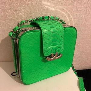 CHANEL Bags - Chanel Limited Edition Python Neon Bag